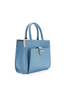 Keep this dusty blue tote on your watch list: the soft azure is an up and coming color!