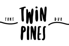 Twin Pines is playful, quirky sans serif font duo with a Regular and an Alternative full case alphabet. By changing the lower- and uppercase letters you can easily achieve a unique handwritten, marker style font. By Lili Lieber. #affiliatelink
