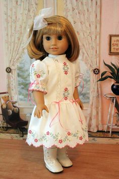 Embroidered Heirloom Dress for Dolls like Nellie by BabiesArtUs