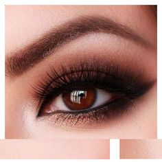 12 Easy Prom Makeup Ideas For Brown Eyes Gurl ❤ liked on Polyvore featuring beauty products, makeup, eye makeup and eyes