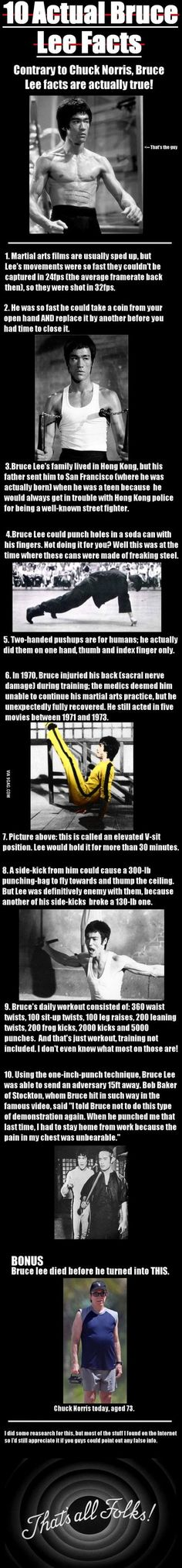 Some interesting facts about Bruce Lee // funny pictures - funny photos - funny images - funny pics - funny quotes - #lol #humor #funnypictures