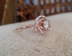 Halo Forever Brilliant Moissanite Diamond Ring by PenelliBelle