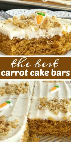 Sheet pan carrot cake bars made with a surprise ingredient that makes them so moist and easy - carrot baby food! No shredding and peeling carrots needed. Baby Carrot Recipes, Easy Cake Recipes, Easter Recipes, Easy Desserts, Baby Food Recipes, Dessert Recipes, Food Baby, Baby Foods, Cheese Recipes