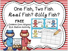 FREE literacy station- perfect for the first week of March!