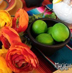 Cinco de Mayo Celebration limes #tablescape #party #cinco #mexican #fiesta Magical Giggles