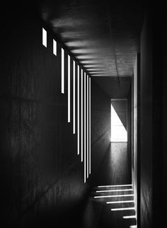 Tadao Ando lighting effects in concrete space create a moody environment…