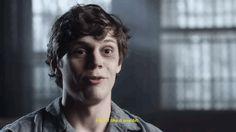 """bucknstevie: """" Evan talking about AHS: Asylum (x) """""""