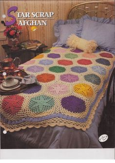 Annie's+Scrap+Crochet+Club | Star Scrap Crochet Afghan Pattern Annie's Attic Quilt & Afghan Club
