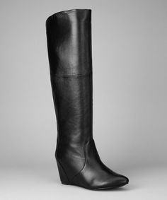 Take a look at this Black Waldron Wedge Boot by Blow-Out on #zulily today!