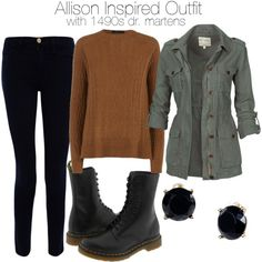 """Allison Inspired Outfit with 1490s Dr. Martens"" by veterization on Polyvore"