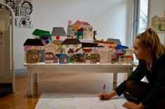 The AccessArt Village at Brentwood Road Gallery - working with year nine students from Frances Bardsley Academy - SC