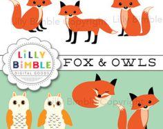 Watercolor fox clipart foxes clipart Red by DigitalDesignsAndArt