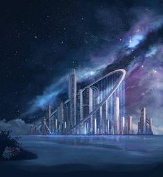 Concept art future city dreams Ideas for 2019 Cyberpunk Aesthetic, Cyberpunk City, Arte Cyberpunk, Futuristic City, Futuristic Architecture, Space Fantasy, Fantasy City, Sci Fi Fantasy, Fantasy Artwork