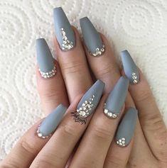Sparkling Gray | Most Pinned Matte Nail Polish Ideas On Pinterest