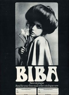 60s Biba Catalogue. Kensington High Street. I used to shop there when I was old enough, lol