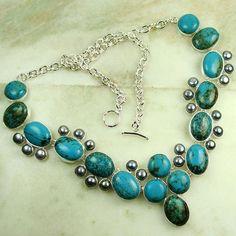 handmade jewelry   Fashion Gemstone Jewelry Handmade Jewelry Turquoise Neclace LNDSC03434