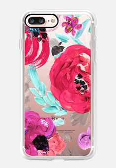 Mona Floral iPhone 7 Case by Crystal Walen Case Iphone 6s, Floral Iphone Case, Pretty Iphone Cases, Phone Cases Samsung Galaxy, Iphone 7 Plus Cases, Iphone Case Covers, Diy Case, 6s Plus, Casetify