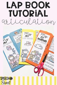 Free cover labels for articulation lap books and a tutorial! Lap Books will make your speech therapy sessions memorable, fun, and engaging!
