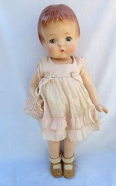 "~~Vintage 1930's 18"" Effanbee F & B Composition Patsy Ann Doll Original Clothes~~"