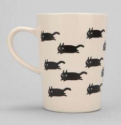 Cats Running Mug