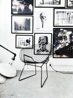black and white & bertoia