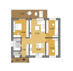 House plans - choose your house by floor plan 3 Bedroom Bungalow, Small House Floor Plans, Apartment Floor Plans, My House, Flooring, How To Plan, Cottages, Kitchens, Houses
