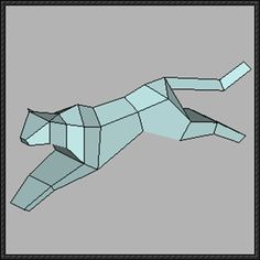 Animal Paper Model - Simple Cheetah Free Template Download - http://www.papercraftsquare.com/animal-paper-model-simple-cheetah-free-template-download.html