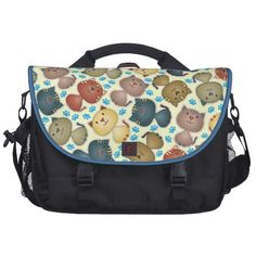 Love this laptop bag with all the cute cats on it.   See more designs at https://www.facebook.com/bztees2go pinned with Pinvolve