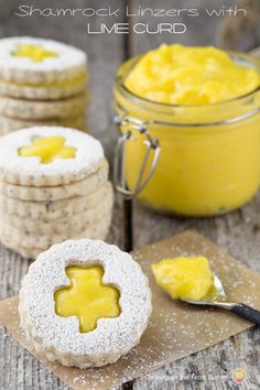 Light, delicate and buttery shortbread with the tang of homemade lime curd