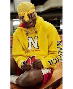 Lil Yachty x Nautica Men's Logo-Print Pullover Hoodie - Yellow XXL Mens Sweatshirts, Men's Hoodies, New Rap, Lil Yachty, Yellow Hoodie, Man Logo, Signature Logo, Graphic Sweatshirt, Mens Fashion