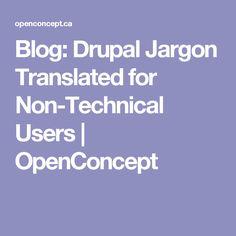 Blog: Drupal Jargon