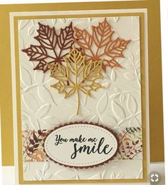 Colorful Seasons Bundle by Stampin' Up! - Stamping With Tracy - Geprägte karten Stampin Up Karten, Leaf Cards, Embossed Cards, Stamping Up Cards, Cards For Friends, Greeting Cards Handmade, Handmade Fall Cards, Halloween Cards, Paper Cards