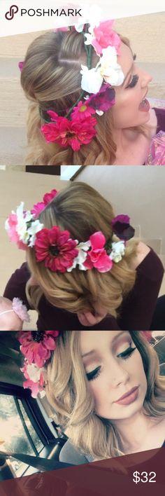 🌸GORGEOUS🌸 handmade flower head piece! 🌸GORGEOUS🌸 handmade flower head piece! 100% handmade. Stunning design and stunning flowers! Accessories Hair Accessories