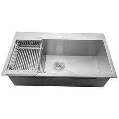 AKDY Handmade x Stainless Steel Single Bowl Drop-In Residential Kitchen Sink All-in-One Kit at Lowe's. For professional quality and high durability, the AKDY has modern looks made with commercial-grade brushed stainless steel. Our large top mount Top Mount Kitchen Sink, Sink Top, Single Bowl Kitchen Sink, Large Kitchen Sinks, Inset Sink, Stylish Kitchen, New Kitchen, Kitchen Ideas, Kitchen Designs