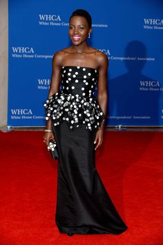 Lupita Nyong'o At the 2014 White House Correspondents' Dinner.  Photo: 2014 Getty Images
