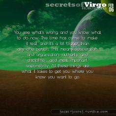 Virgo Horoscope. Hey Virgo, follow us for horoscopes every day!