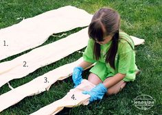 Summer Craft Ideas // A Jennuine Life has the how to tie dye a fort tutorial on her blog! // We Made It by Jennifer Garner Hoop Hideout