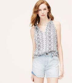 Image of Petite Embroidered Halter Cami