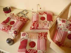 lovely patchwork pincushions