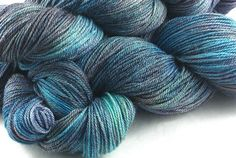 Hand Dyed Merino Bamboo Nylon 60/30/10 SOCK by KinfolkYarnandFibre in the colour way Pearlescent #2