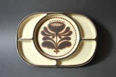 Vintage West German Pottery Fondue Plate by by GoGoBerlinette.