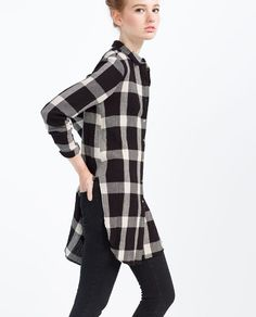 Discover the new ZARA collection online. Shirts & Tops, Camisa China, Casual Outfits, Fashion Outfits, Check Shirt, Pretty Outfits, Clothes For Women, Loose Fit, Outfits