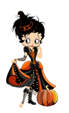 Betty Boop Halloween, Halloween Doll, Vintage Halloween, Imagenes Betty Boop, Sweet Betty, Pumpkin Images, Tinkerbell And Friends, Betty Boop Cartoon, Betty Boop Pictures