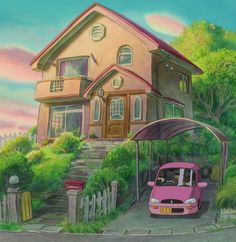Written and directed by Hayao Miyazaki Created by Studio Ghibli. Ponyo (Two-Disc Blu-ray/DVD Combo) Studio Ghibli Background, Animation Background, Studio Ghibli Art, Studio Ghibli Movies, Hayao Miyazaki, Anime Scenery Wallpaper, Environment Concept Art, Cool Backgrounds, Fantasy Landscape