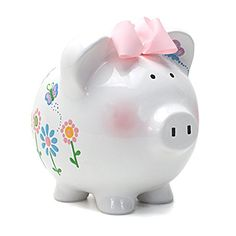 Our #piggy bank has a simple but memorable color palette. Our piggy banks are made from only the highest quality porcelain and feature a base #that is deep glazed...