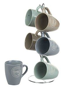 This is a fun coffee rack with cups!  Affiliate link