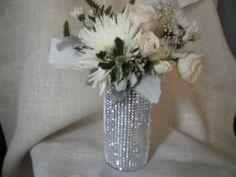 Rhinestone Crystal Ribbon Bouquet Vases