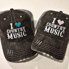 """I Love Country Music"" Women's Trucker Hat by Katydid"