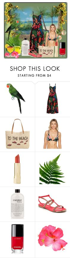 """Topical Holiday"" by muskrosevintage ❤ liked on Polyvore featuring Été Swim, Valentino, Style & Co., Vince Camuto, philosophy, Ramarim, Chanel and TIKI"