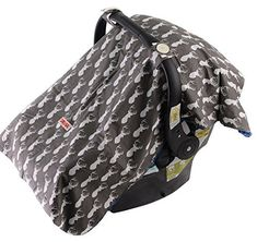 Anchor Hi Sprout Breathable Cotton Muslin Canopy Car Seat Cover for Girls and Boys